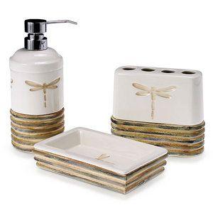 Dragonfly 3Piece Bath Accessory Set Bath accessories