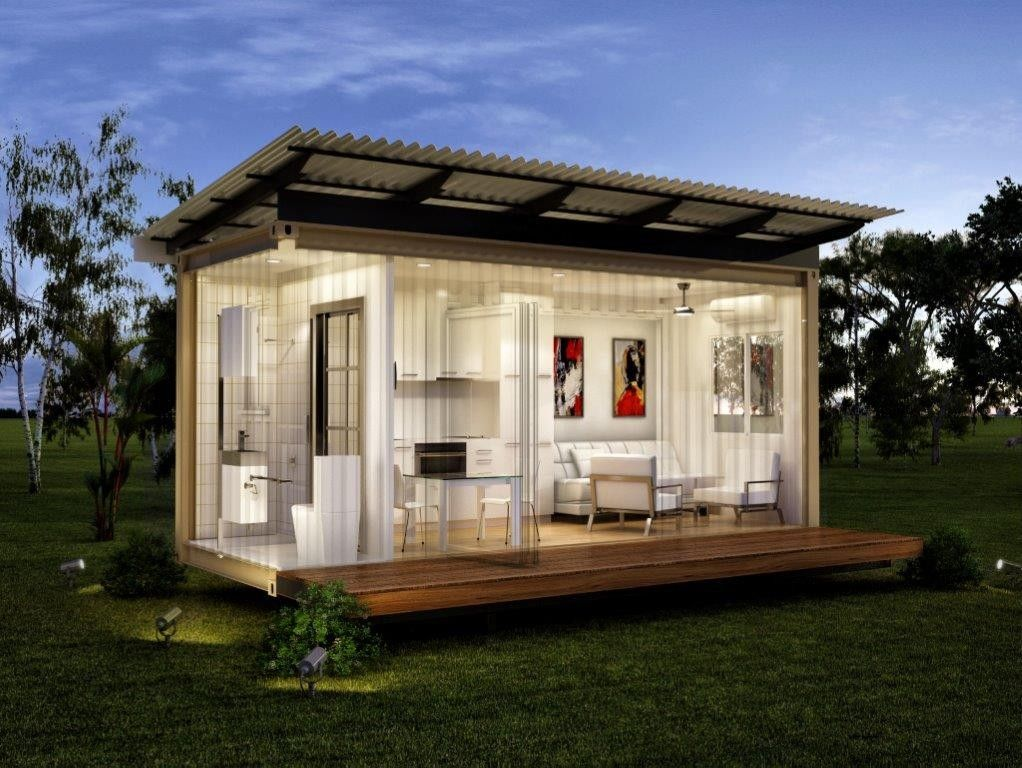 The monaco granny flats one bed one bath prefabricated for Prefabricated shipping container homes
