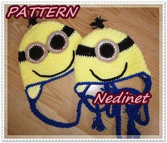 Crochet minion pattern, Minions inspirated crochet hat PATTERN Gru Earflap Hat #CostumePattern #pattern #MinionInvitation #MinionBirthday #Minions #EarflapHat #BoyHat #PartyBaby #CrochetPattern #crochet #minionpattern Crochet minion pattern, Minions inspirated crochet hat PATTERN Gru Earflap Hat #CostumePattern #pattern #MinionInvitation #MinionBirthday #Minions #EarflapHat #BoyHat #PartyBaby #CrochetPattern #crochet #minioncrochetpatterns