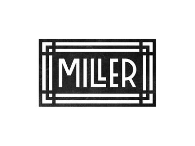 Miller Art Decó Inspiration Logo