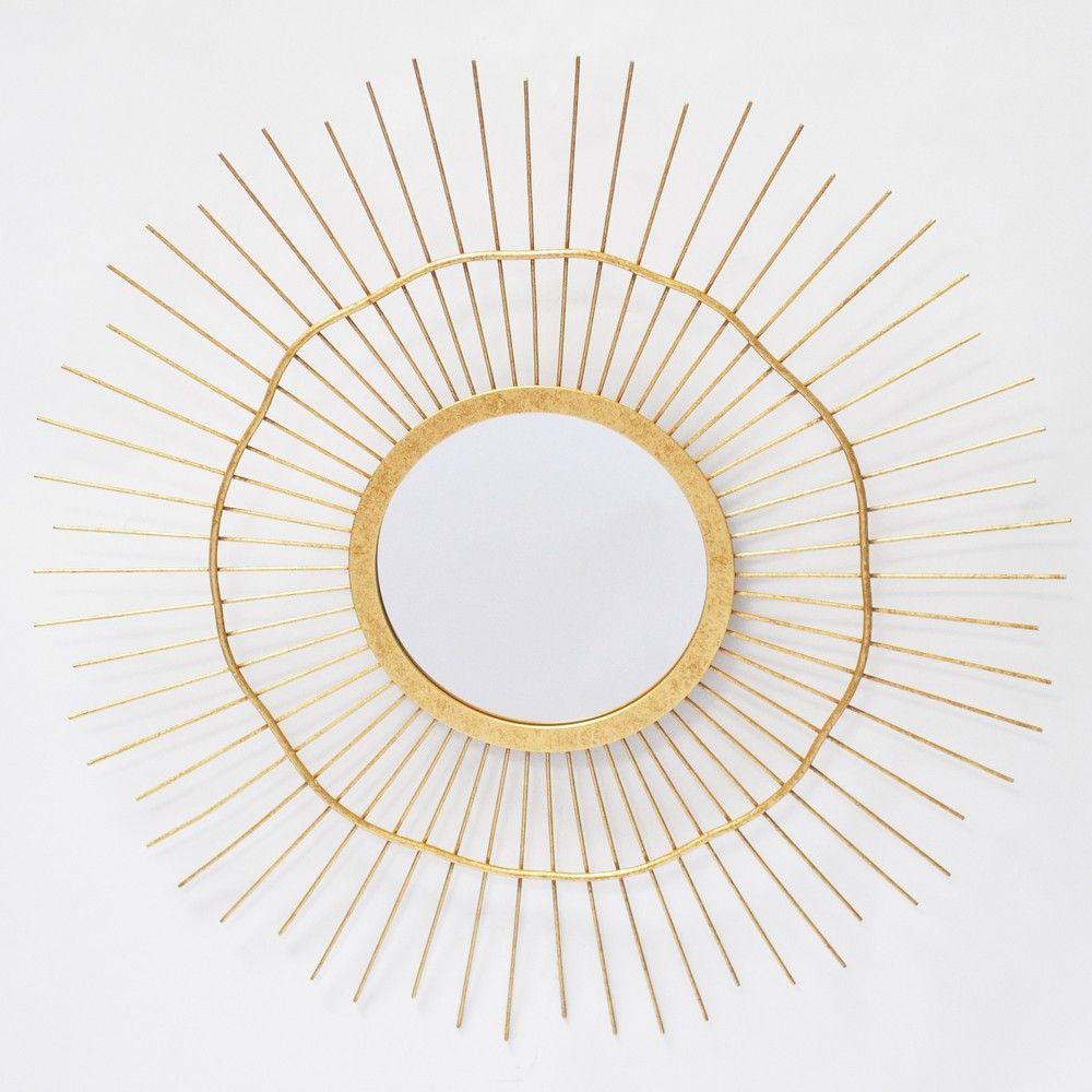 24 Round Spoke Wall Mirror Brass Opalhouse Unique Mirrors