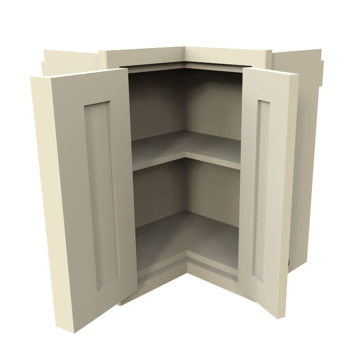 Kitchen Cabinets Upper Corner: Double Hinged Corner, GreenheartKitchens.co.uk