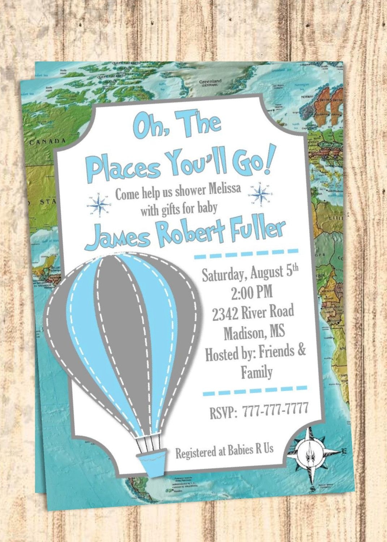 DIY PRINTABLE Baby Shower Invitation Adventure Map Baby Shower Oh ...