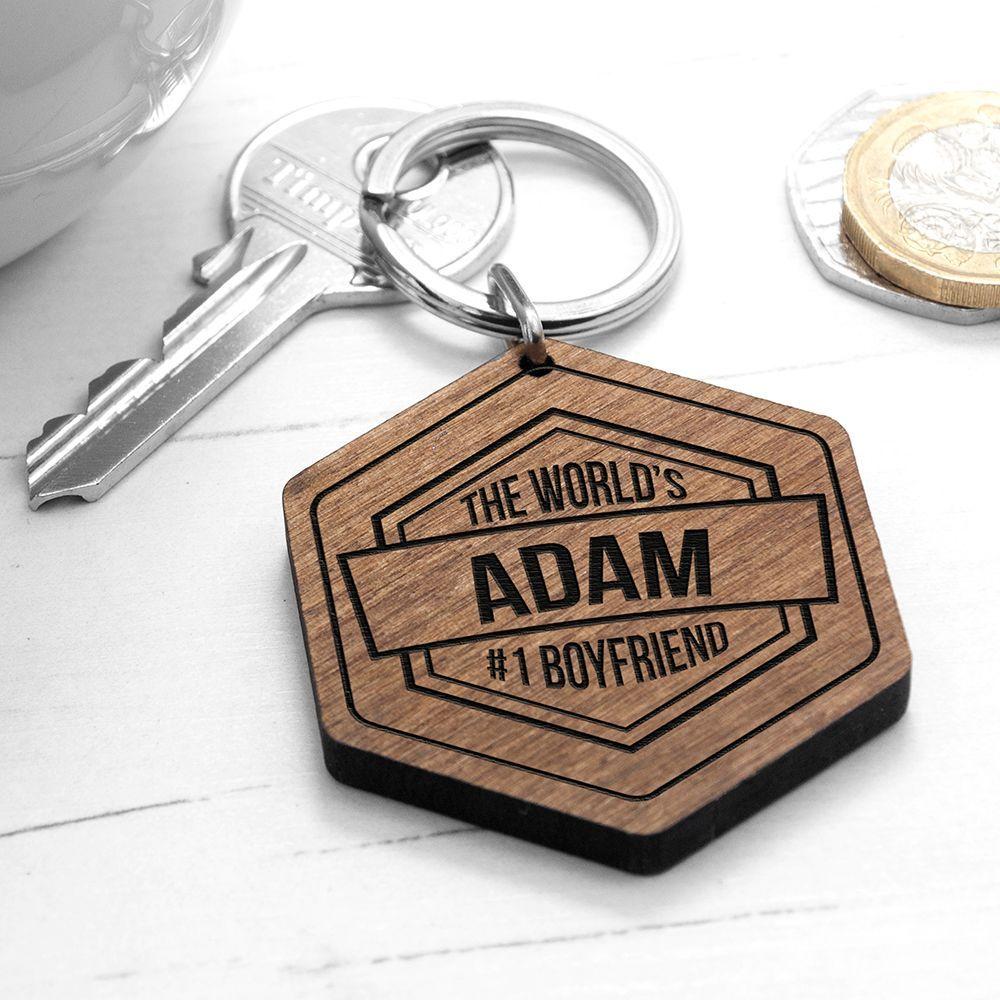 Personalised Cheeky Message Keyring   Wood laser ideas