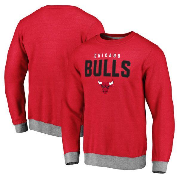 Chicago Bulls Team Essentials Clean Color Tri-Blend Sweatshirt - Red -  $54.99