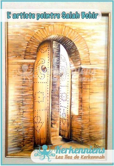 Salah Bchir porte maison peinture Kerkennah hajouja Pinterest - Peinture Porte Et Fenetre