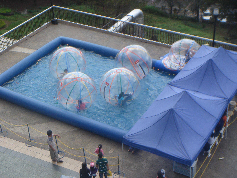 Water Walking Balls! Human Hamster Balls in water!