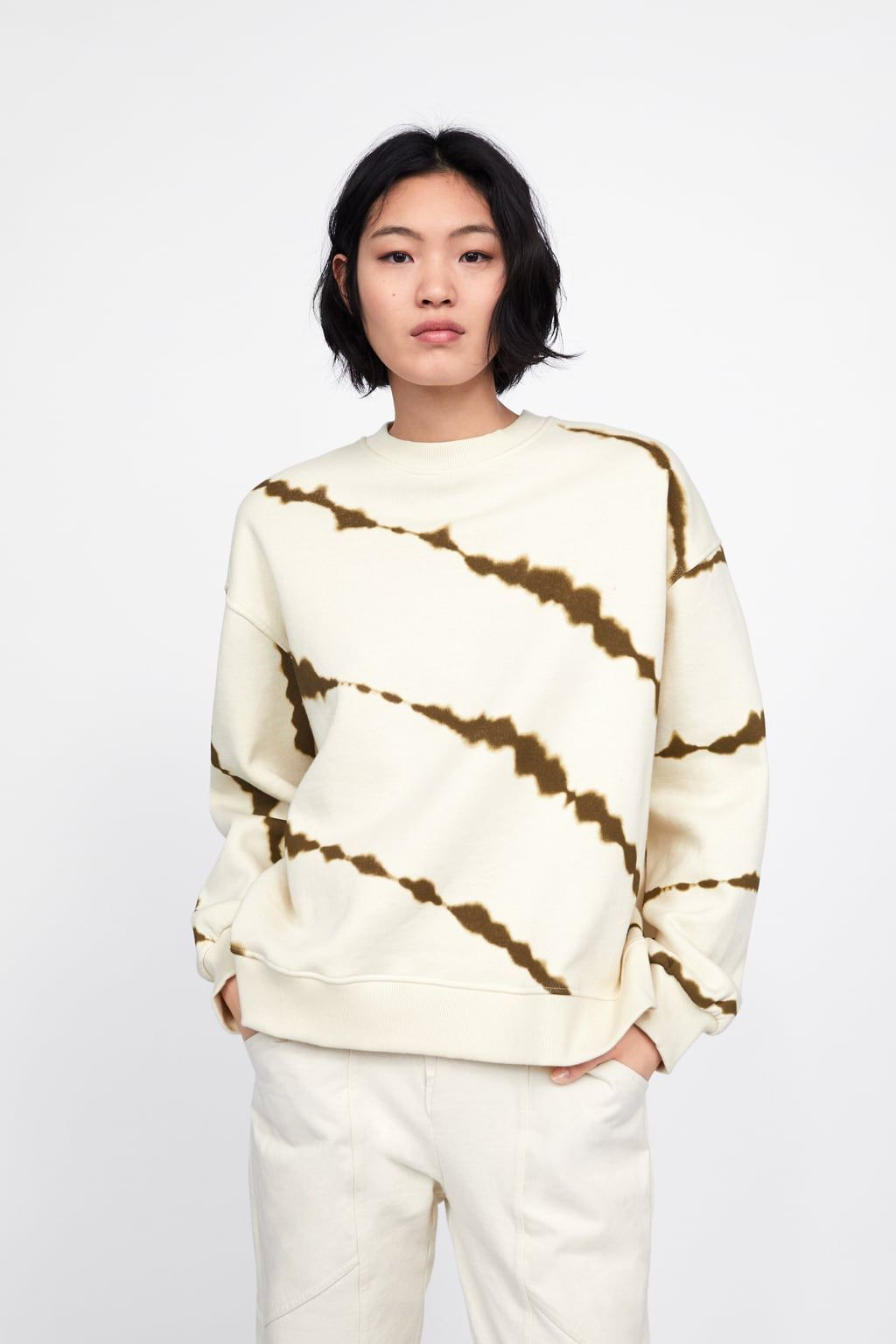 Image 2 Of Tie Dye Sweatshirt From Zara Batik Kleidung Modestil Schnurbatik [ 1536 x 1024 Pixel ]