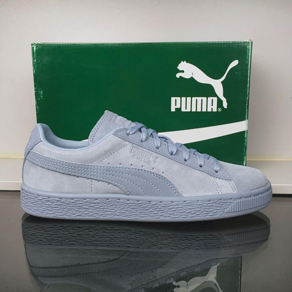 Puma Shoes   Puma Blue Fog Suede Classic Tonal Jr   Color