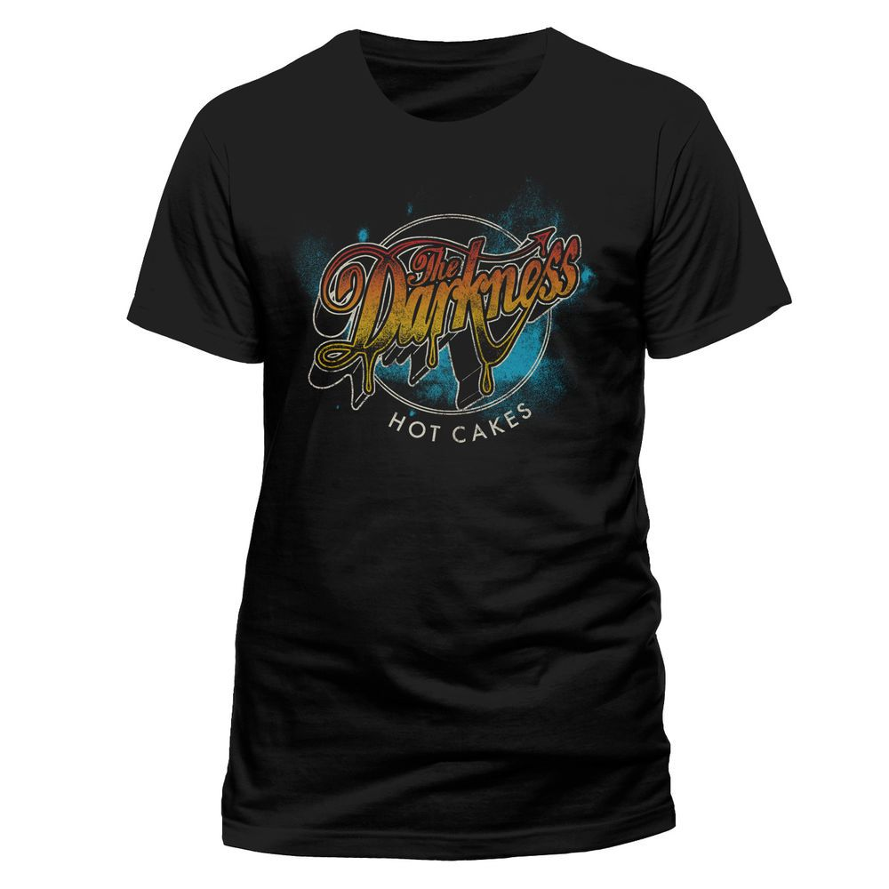 New The Darkness *Hot Cakes Rock Band Men/'s Black T-Shirt Size S-3XL