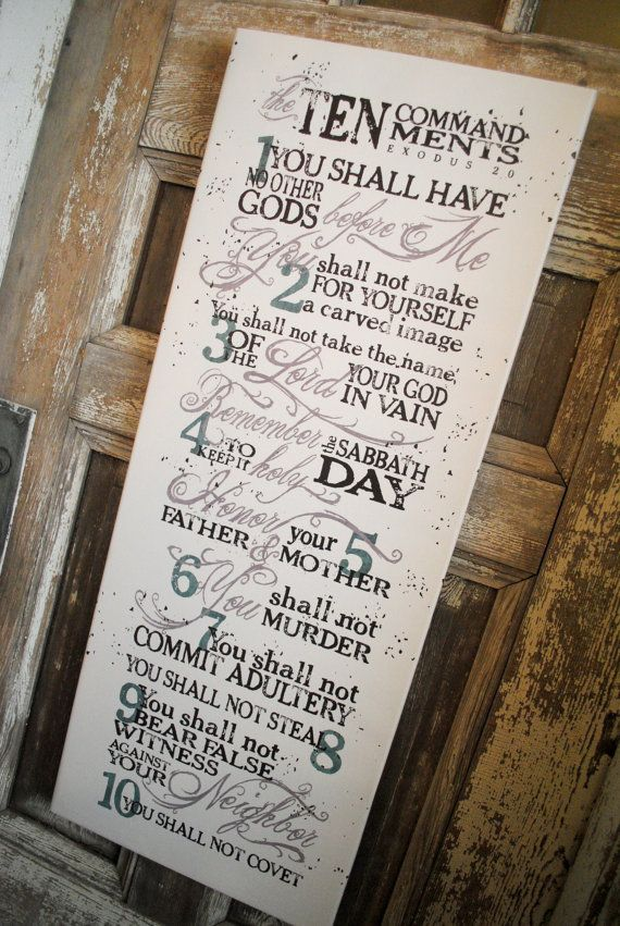 Pin By Kathy West On Ideas For The House Ten Commandments Wall Art Sign Art