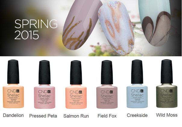 Spring 2015 CND Shellac Colors