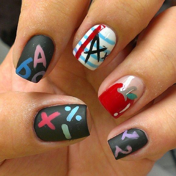 45 Back To School Nail Designs School Nails School And Nail Nail