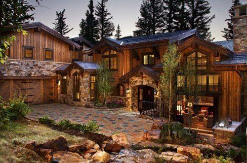 Majestueuse maison en bois Rustic Home Architecture Pinterest