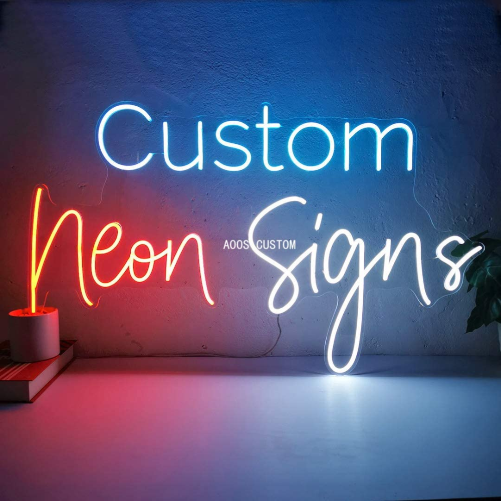 Aoos Custom Dimmable Led Neon Signs For Wall Decor Customization Options Color Size Dimming Wall Personalized Neon Signs Custom Neon Signs Led Neon Signs