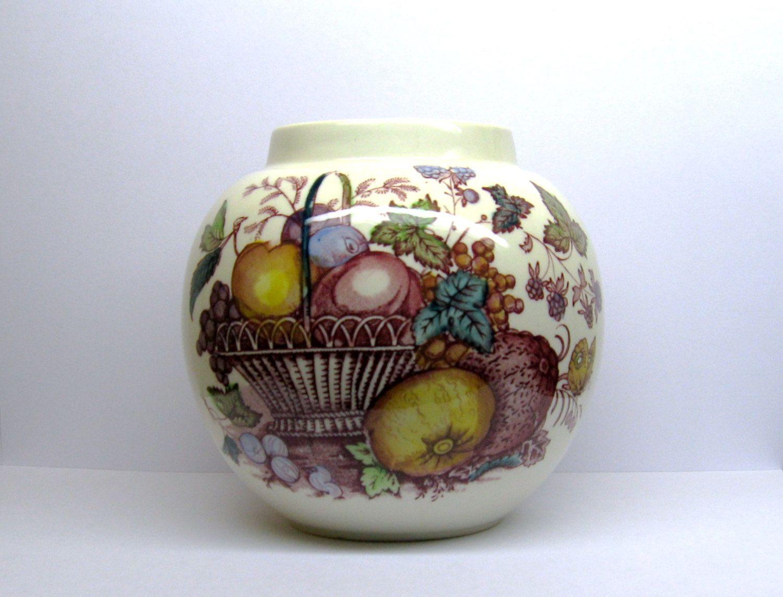 mason u0027s fruit basket vintage ginger jar vase polychrome