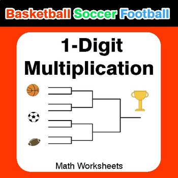 1 Digit Multiplication Basketball Math Soccer Math Football Math Basketball Math Soccer Math Math Football