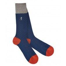 London Sock Company Spot of Style Navy Socks