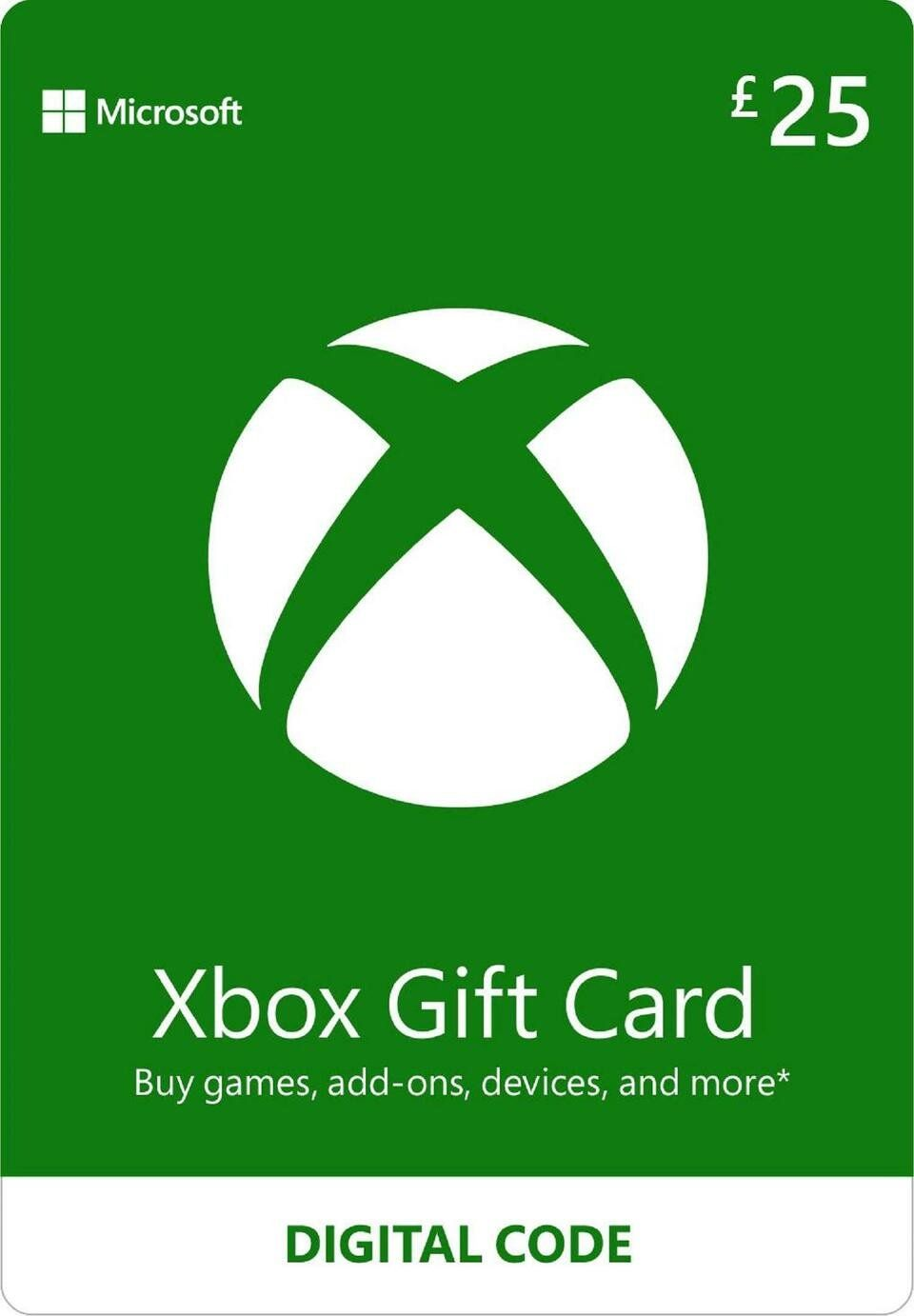 Buy xbox live 25 gbp gift card digital download xbox