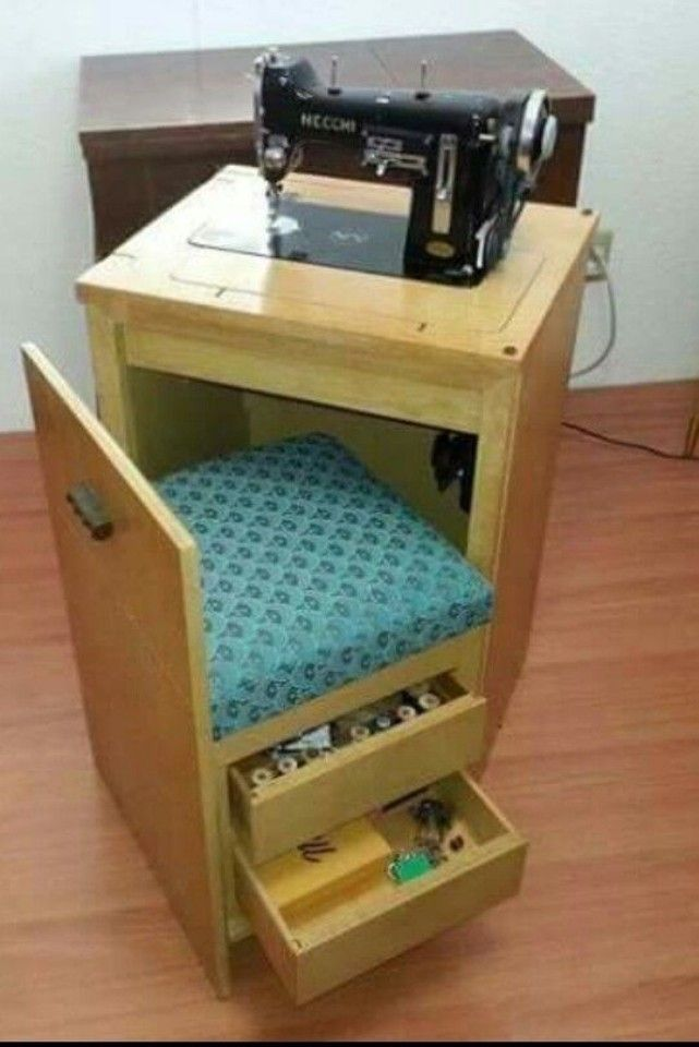 Mueble Para Maquina De Coser Pequeño Alfileteros Y Otras Ideas
