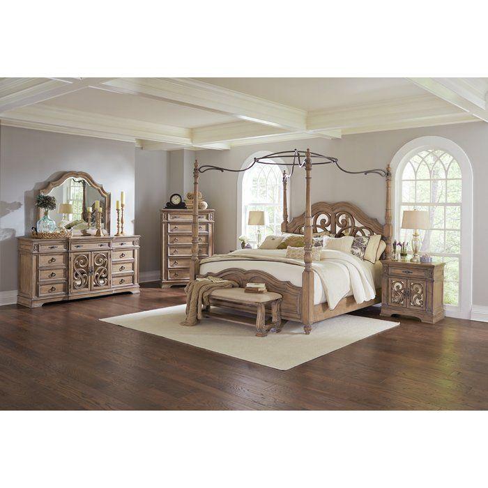 George Canopy Bed   Bedroom   Upholstered platform bed, Bedroom ...