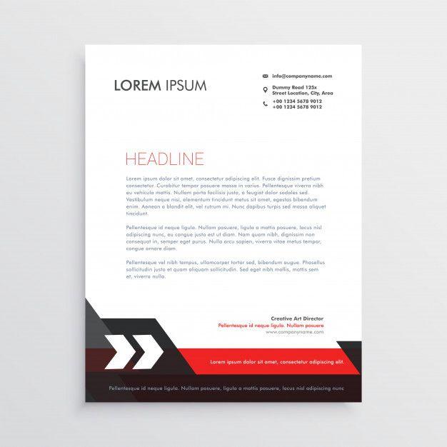 Red black letterhead template design free vector professional red black letterhead template design free vector spiritdancerdesigns Images