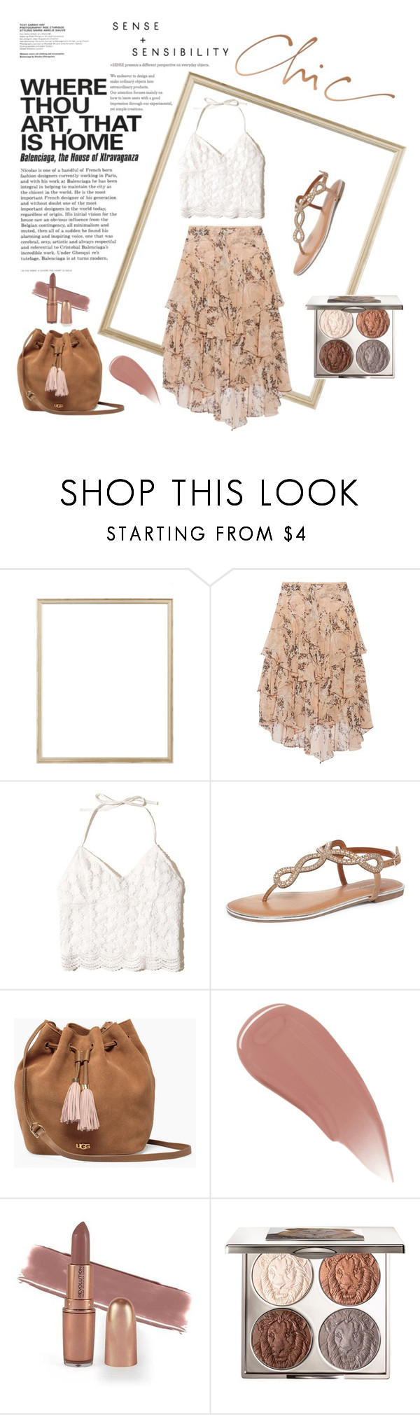 """Floral skirt"" by lilimia ❤ liked on Polyvore featuring Rifle Paper Co, Jason Wu, Hollister Co., Dorothy Perkins, UGG, Burberry and Chantecaille"
