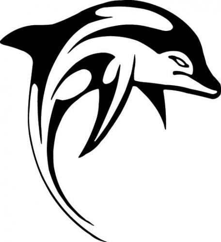 DOLPHIN BOAT Stickers Decal x2