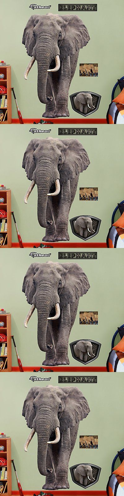 Other Nursery Wall D cor 20430: Fathead Elephant Graphic Wall Décor -> BUY IT NOW ONLY: $98.76 on eBay!