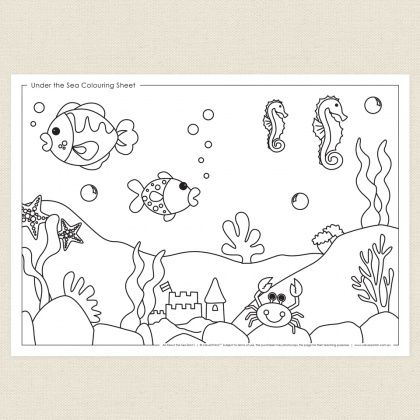 The Sea Colouring Sheet - CleverPatch Coloring Pictures For Kids, Coloring  Sheets, Coloring Pictures