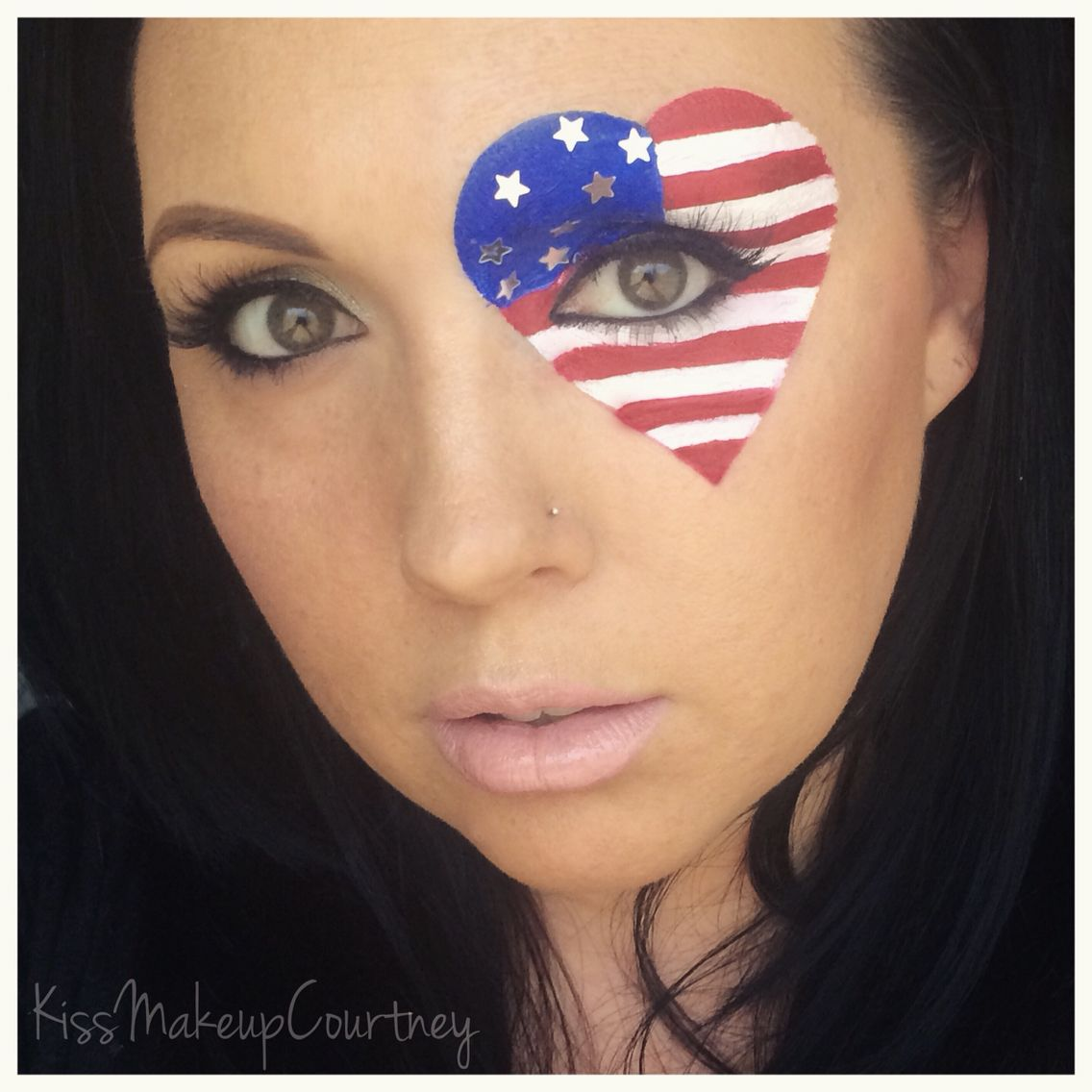 Happy july 4th 4th of july inspired patriotic eye makeup look 4th of july makeup face paint forth of july kissmakeupcourtney baditri Image collections