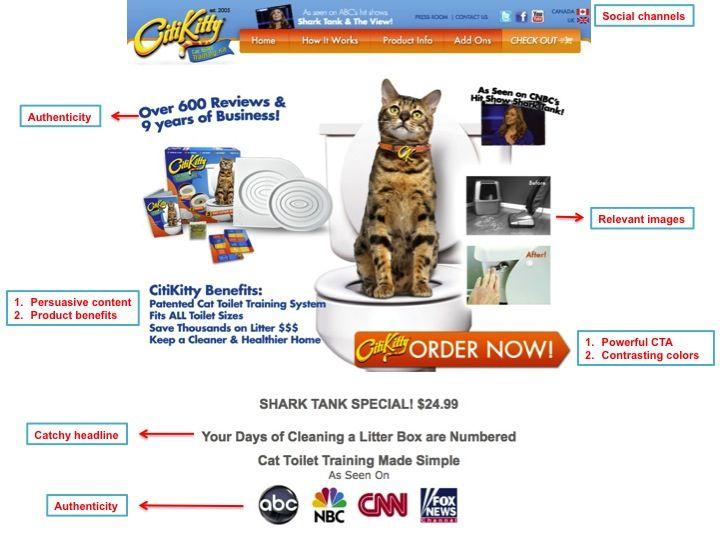 citi kitti landing page | Landing Page | Pinterest | eCommerce