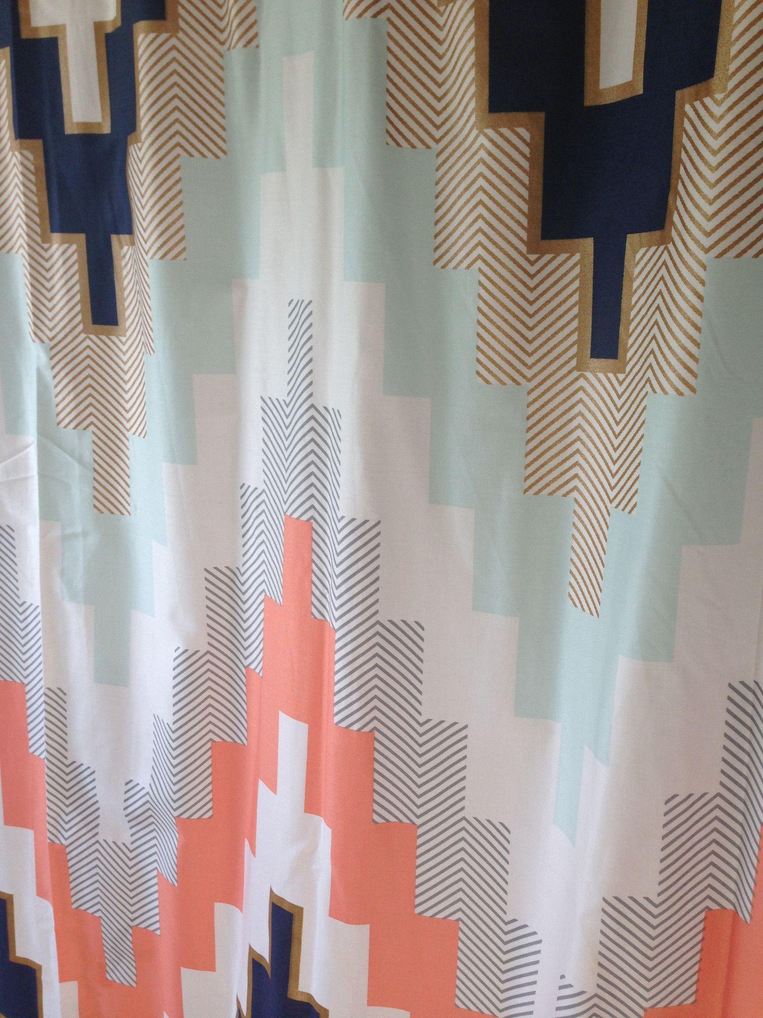 Blissliving Home Harper Blue Shower Curtain, Chevron Shower Curtain U2013  Showercurtainhq.com