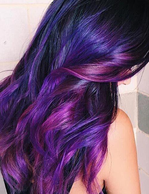 20 Breathtaking Purple Ombre Hair Color Ideas   Magenta ...