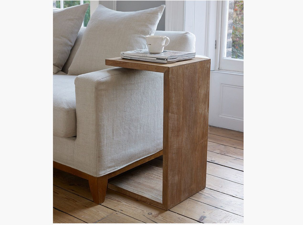 U Shape Side Table With Sofa And Wooden Flooring Id774 Modern