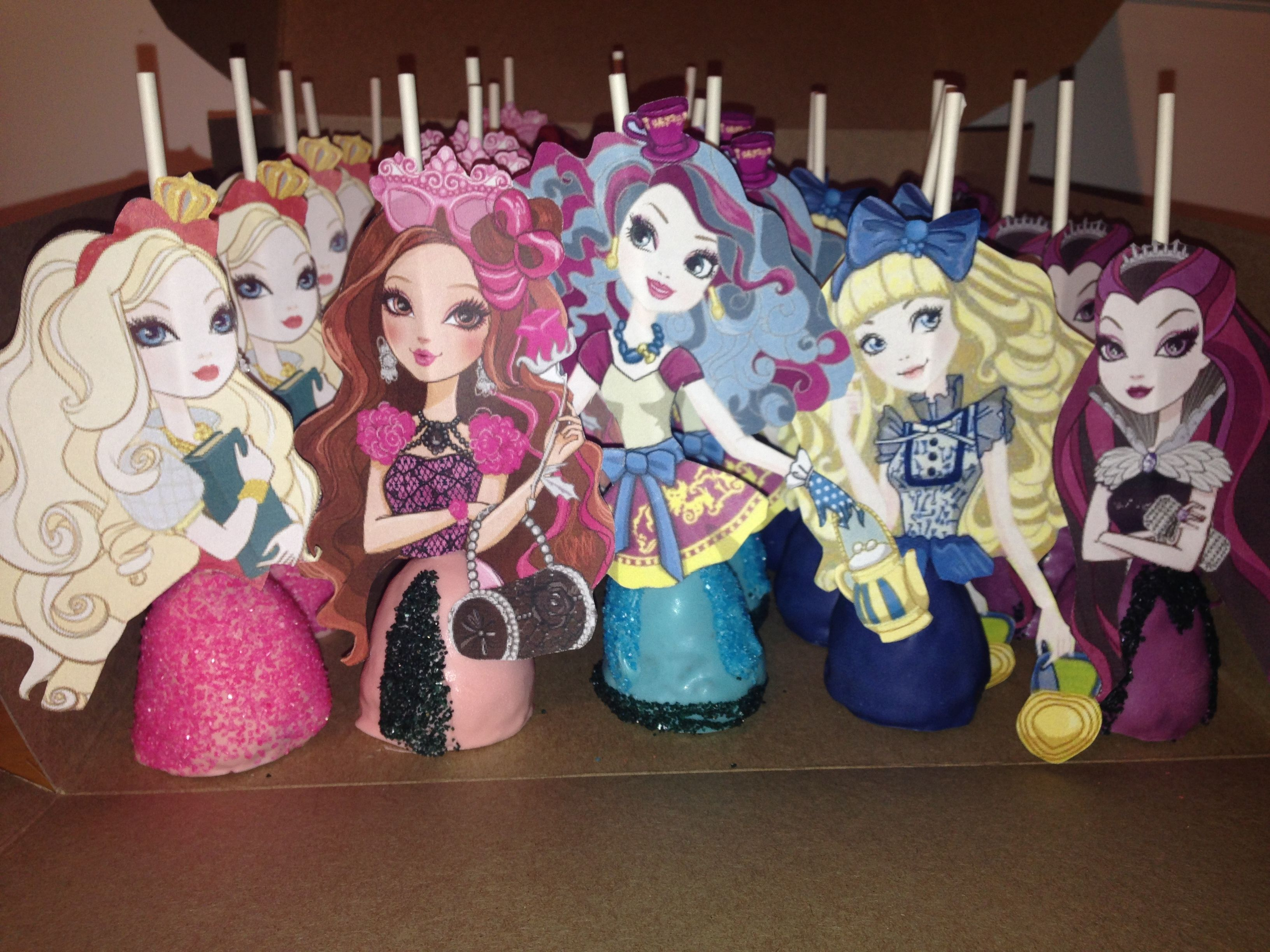 Geburtstagsfeier Ideen Ever After High Cake Pops Ever After High Birthday
