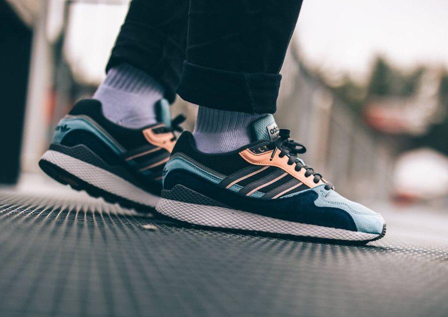 better shades of best shoes Adidas Oregon Ultra Tech Bleu 'Ash Grey Four Clear Orange' (2018 ...