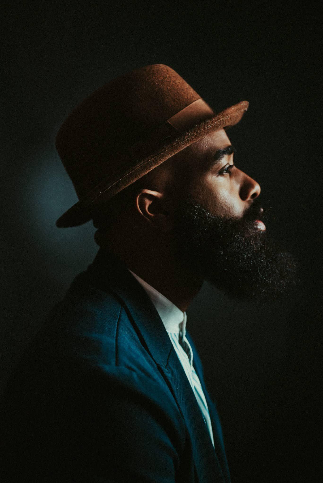 Studio Photography  men portraits | lifestyle portraits | studio portraits | man in hat portraits | moody portraits