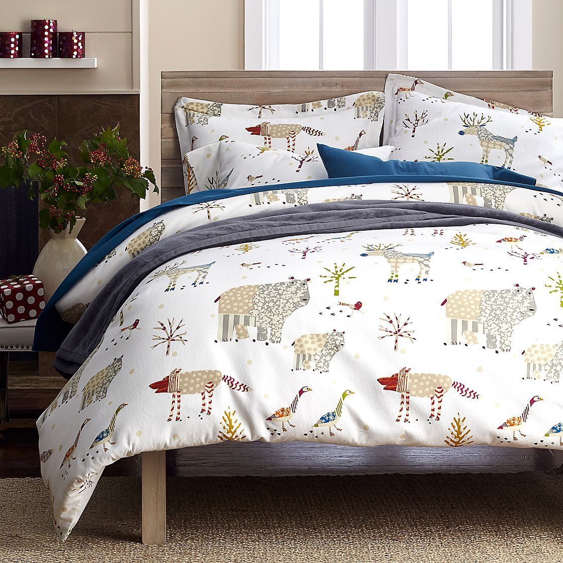 winter forest flannel sheets u0026 bedding set the company store - Flannel Sheets Queen