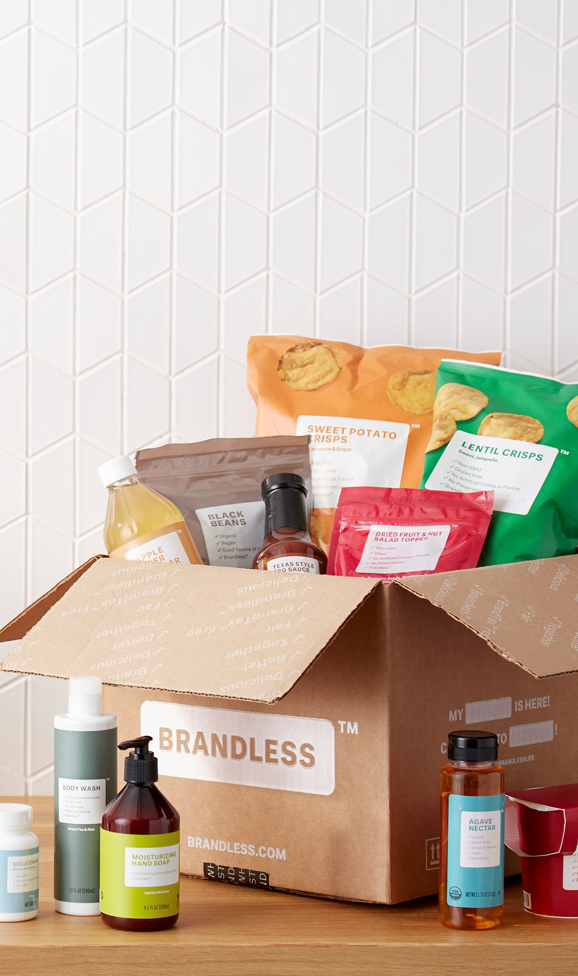Start Building Your Brandless Box Today With Vegetarian And Vegan Essentials Shopping Is Simple Brandless Vegan Essentials Organic Recipes