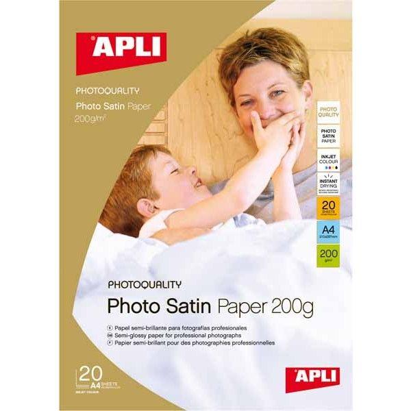 Comprar Papel Fotográfico Satinado A4 200 gr Apli 04453