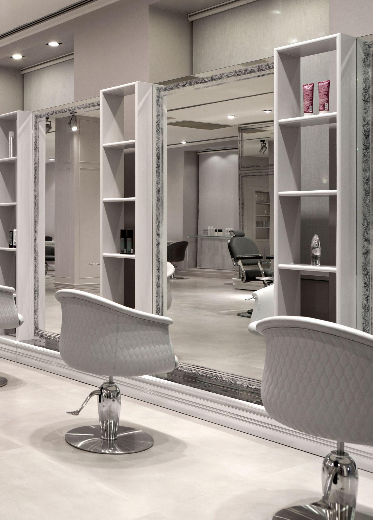 Breda Central Styling Unit Beauty Salon Furniture Salon Furniture Lit Mirror