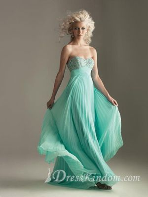 Elegant Sweetheart Chiffon Floor-length Homecoming Dresses [10107017] - US$103.99 : DressKindom