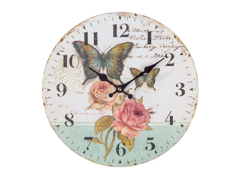 AURIOL Vintage Wall Clock Monday 2202 Lidl UK bedroom