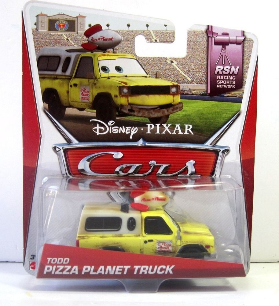 Disney Pixar Cars Todd Pizza Planet Pick Up Truck 1/55 Die