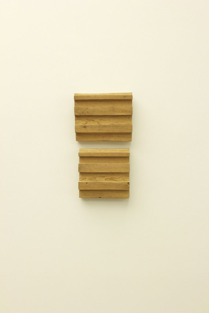 Untitled (wood wall 2 part vert) | Richard Nonas, Untitled (wood wall 2 part vert) (2014)