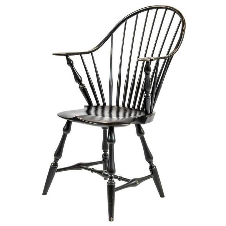 Shimna Windsor Captains Chair, Distressed Black Finish 1