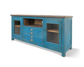 Entertainment Console TV Stand Console Cabinet Reclaimed | Houston ...