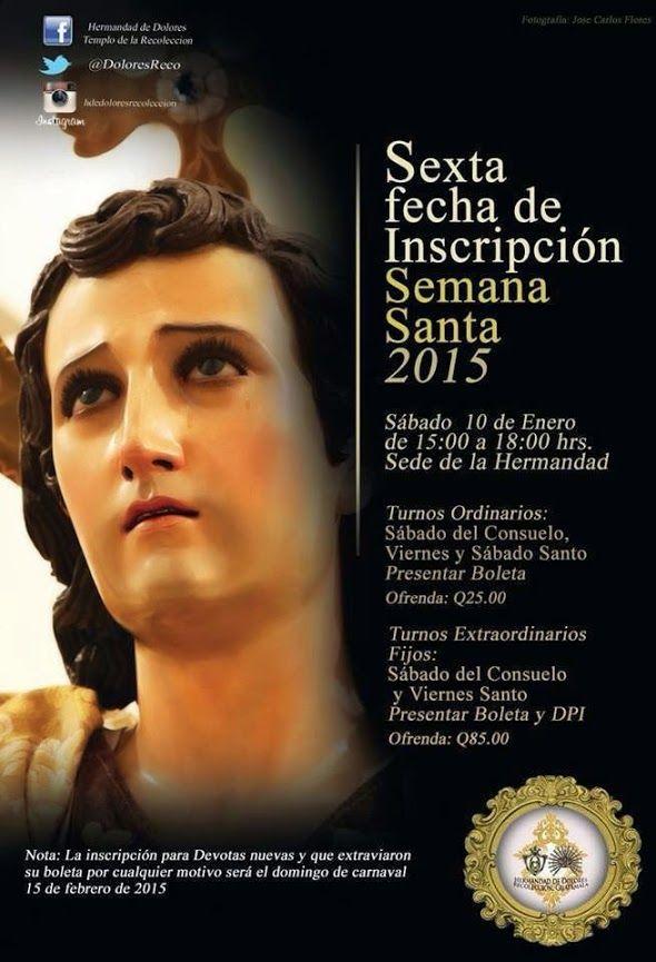 #InscripcionesCuaresma2015 en la Recolección