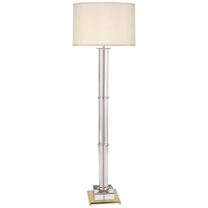 Finnie Modern Brass And Clear Crystal Floor Lamp 9r622 Lamps